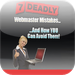 7 Deadly Mistakes Nearly All Webmasters Make And How You Can Avoid The